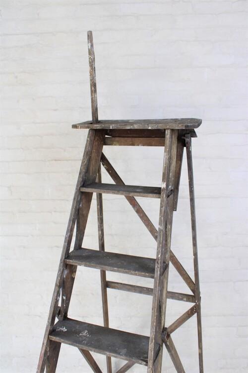 thumbnails bij product houten trapladder met 7 treden