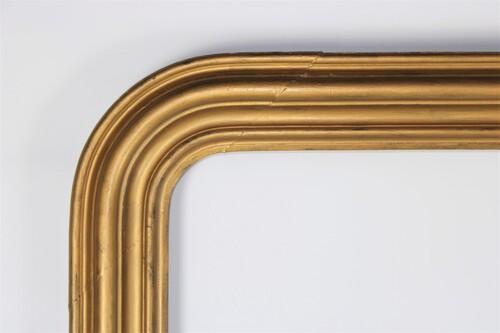 thumbnails bij product grand cadre doré pour mirroir Louis-Philippe