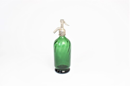 thumbnails bij product old green Seltzer bottle
