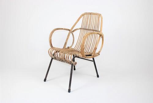 thumbnails bij product chaise vintage en rotin