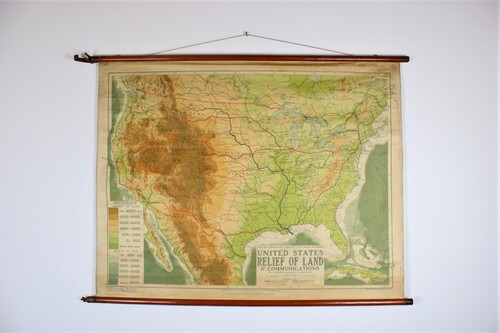 thumbnails bij product old school map United States