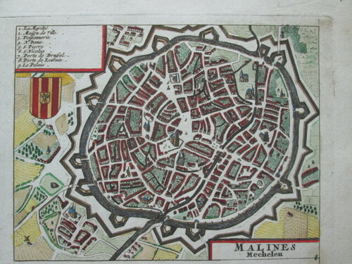thumbnails bij product antique map of Mechelen, 1650