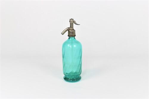 thumbnails bij product Blauwe glazen Seltzerfles