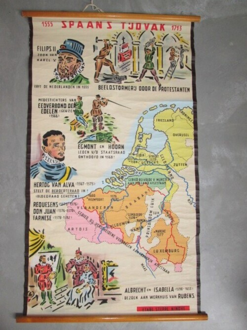 thumbnails bij product Old school map: Spanish period