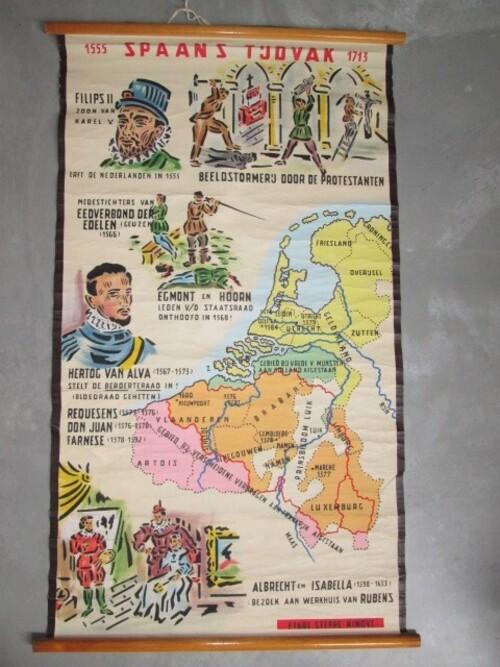 thumbnails bij product carte scolaire: période Espagnole