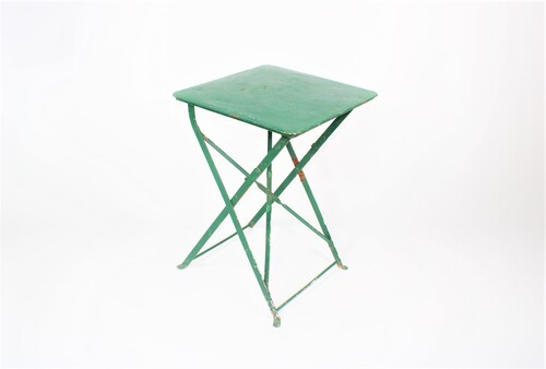 thumbnails bij product old foldable metal bistro table