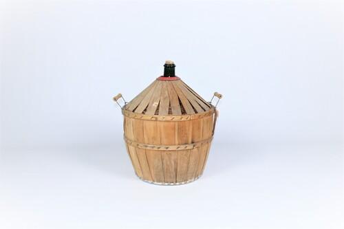 thumbnails bij product dame jeanne in wooden cladding, cognac Napoleon, 25 l.