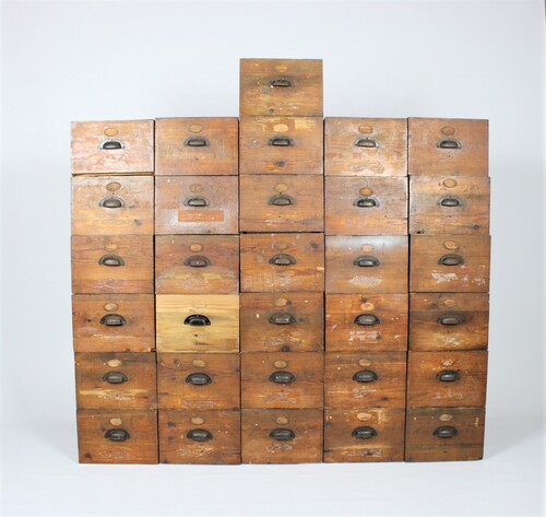 thumbnails bij product old wooden drawers for industrial chest of drawers