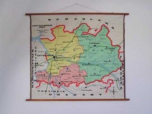 thumbnails bij product old school map of region of Antwerpen
