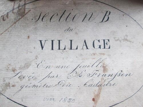 thumbnails bij product antique map of Walem, +/- 1830