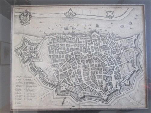 thumbnails bij product Map of Antwerp: Antverpia, M. Merian
