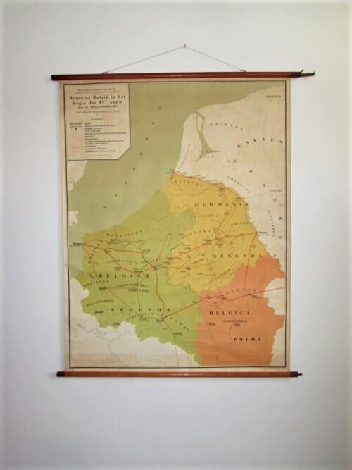 thumbnails bij product old school map: Romans in Belgium