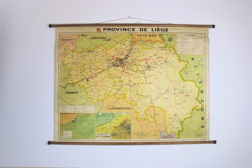 thumbnails bij product Old school map of province of Liège