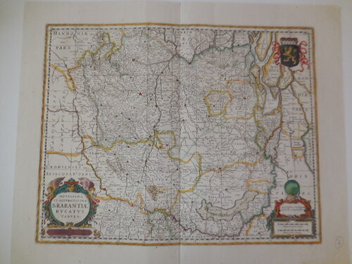thumbnails bij product antique map of Brabant, 1680.