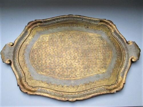 thumbnails bij product Groot Venetiaans dienblad in goudtinten