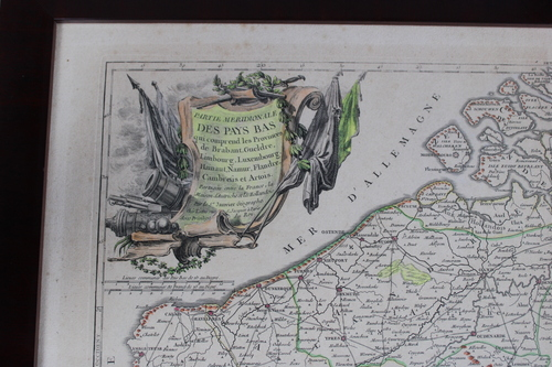 thumbnails bij product old engraving of Belgium-Netherlands