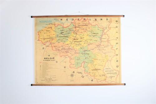 thumbnails bij product Old school map of Belgium, 1973
