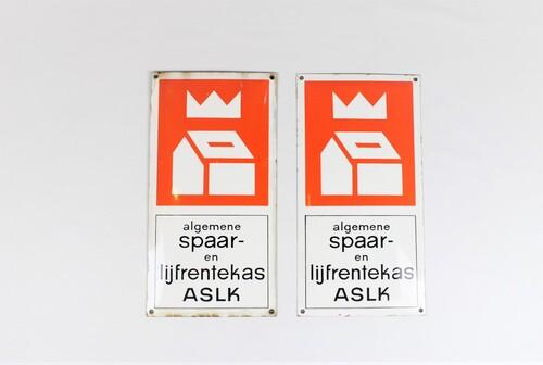 thumbnails bij product old enamel publicity sign ASLK