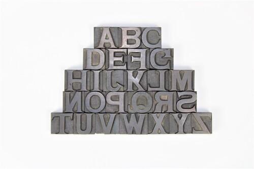 thumbnails bij product Oude drukletters