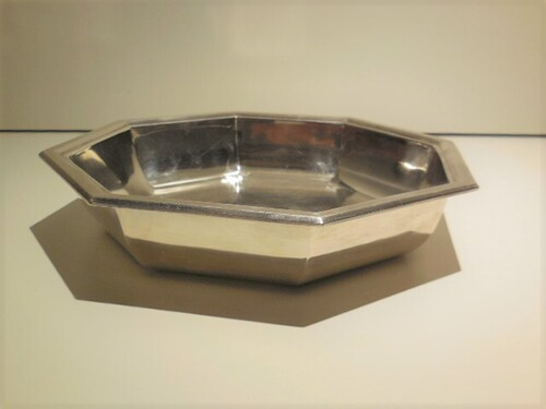 thumbnails bij product silver plated Art Deco bowl