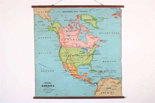 thumbnails bij product Old school map of North -America, from 30