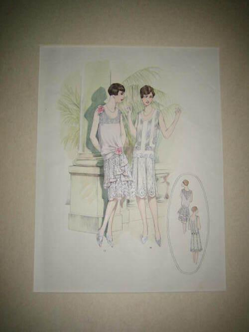 thumbnails bij product Art Deco litho uit kledingcatalogus