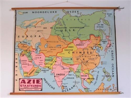 thumbnails bij product old school map op Asia