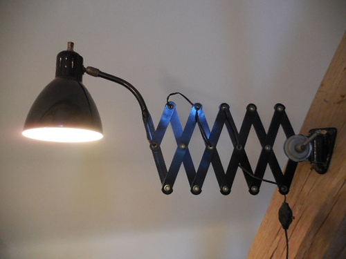 thumbnails bij product industrial scissor wall lamp