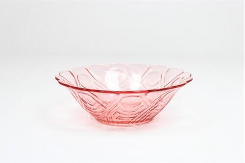 thumbnails bij product coupe à fruits Art Déco en verre rose