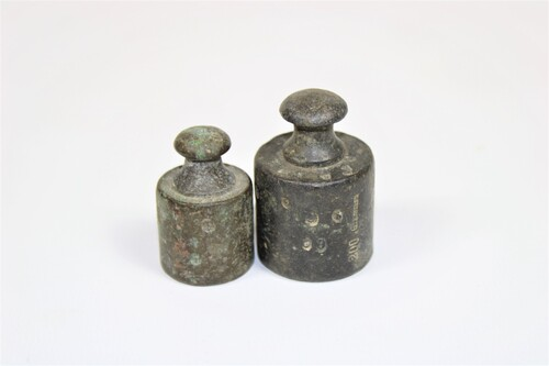 thumbnails bij product Old brass weights (1852)