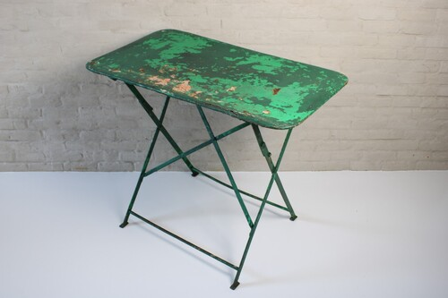 thumbnails bij product old green bistro table