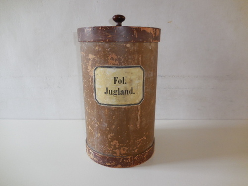 thumbnails bij product ancien pot de farmacie Folia Juglandis