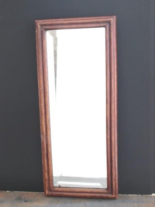 thumbnails bij product rechthoekige spiegel met houten kader
