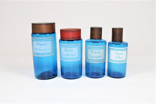 thumbnails bij product blue pharmacy bottles, 19th century