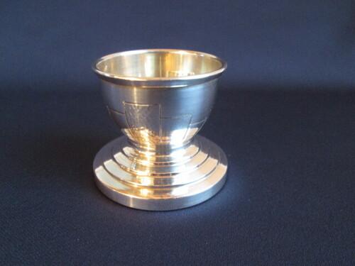 thumbnails bij product zilveren Art Deco eierdopje