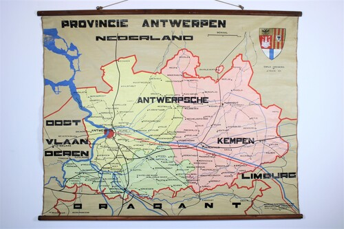 thumbnails bij product old school map of province of Antwerp