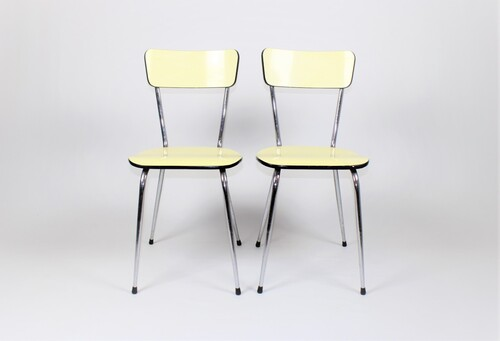 thumbnails bij product vintage chairs, yellow formica