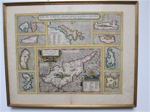thumbnails bij product map of Cyprus, A. Ortelius, 1584