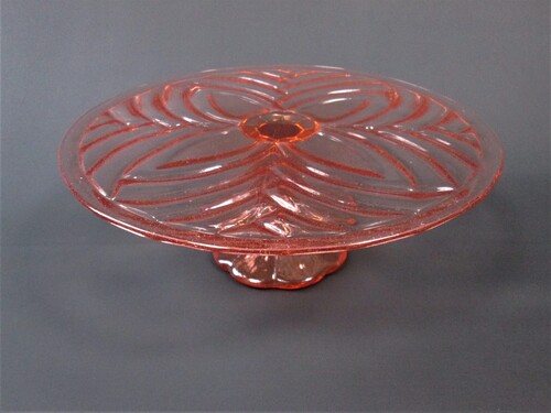 thumbnails bij product old rose glass plate