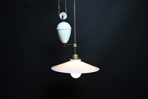 thumbnails bij product old opaline lamp with counterweight