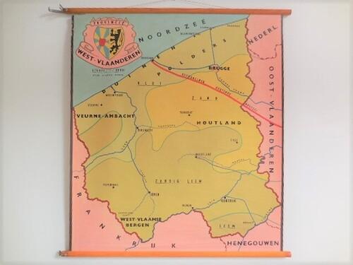 thumbnails bij product old school map West-Vlaanderen