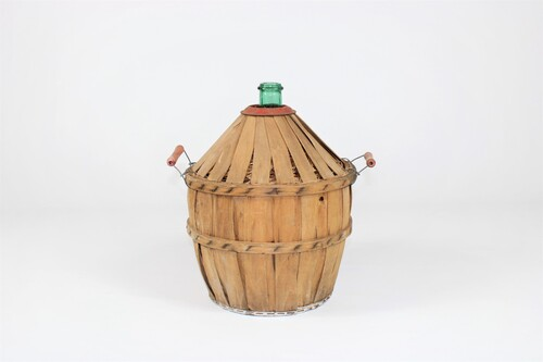 thumbnails bij product small demijohn in wooden case