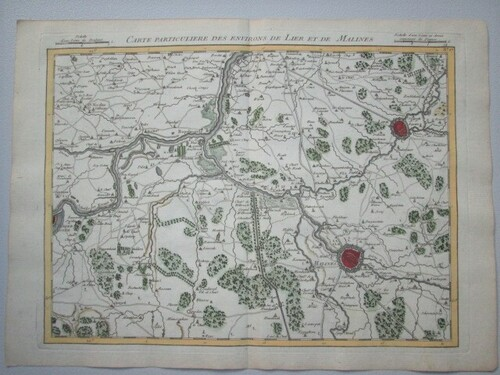 thumbnails bij product antique map of Brabant +/- 1750