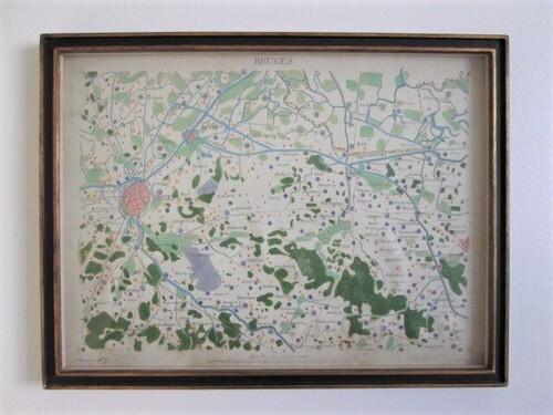 thumbnails bij product ancienne carte de Bruges