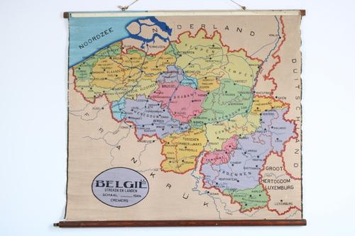 thumbnails bij product Old school map of Belgium, 30