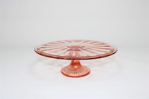 thumbnails bij product roze Art Deco taartschotel