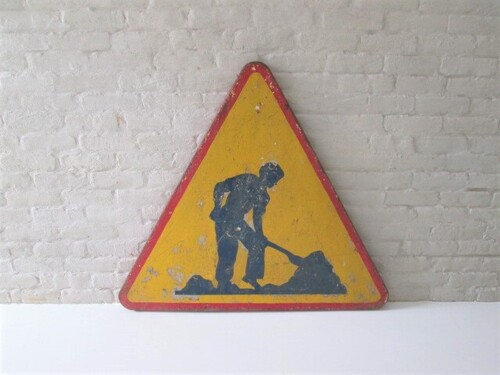 thumbnails bij product old traffic sign