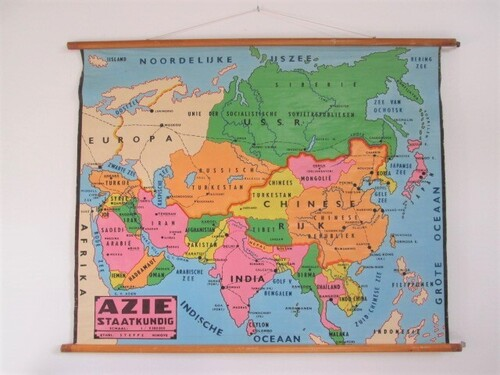 thumbnails bij product old school map of Asia