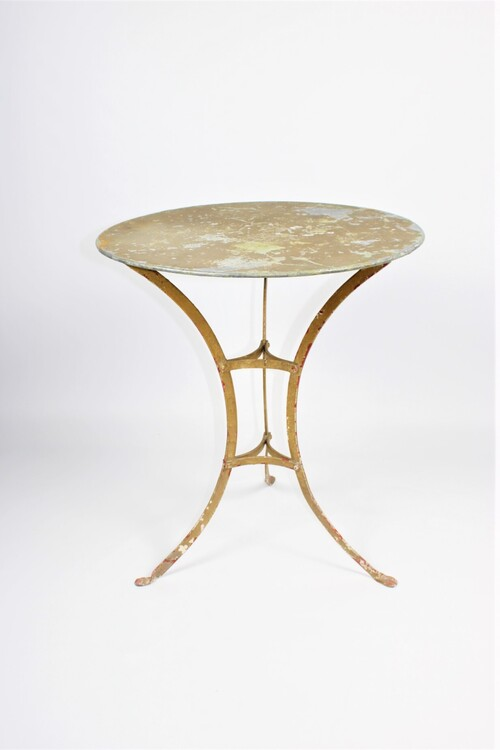 thumbnails bij product old metal bistro table