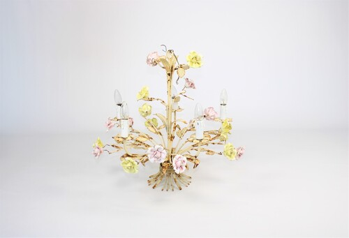 thumbnails bij product vintage flower chandelier